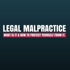 What you need to know about legal malpractice and how to protect yourself from it.  Personal Injury lawyers are, as a rule, well-educated, highly trained, and professional.  Keep Reading: - http://www.zacharassociates.com/personal-injury-wrongful-death-faq/legal-malpractice/