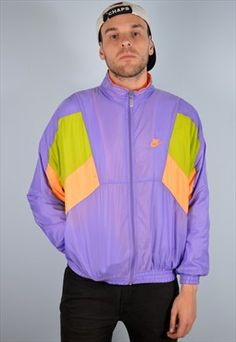 Nike Mens Vintage Tracksuit Top Jacket Windbreaker Medium