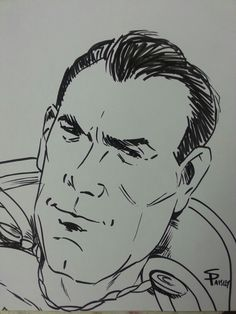 """Here's another sketch of """"The Big Red Cheese.""""  I gave him a Fred MacMurray quality, as C.C. Beck did base the look of ol' Cap on him."""