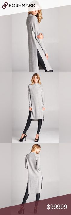 COMING SOON Adeline🔸 Mock Neck Tunic Dress d e s c r i p t i o n  Turn heads in this fall favorite! Classy and oh so chic, this long sleeve soft tunic dress with a slight hi-lo hem is perfect for lounging or going out! Pre-order today!  c o n t e n t  79% Polyester | 14% Rayon | 7% spandex    m e a s u r e m e n t s ✂️  Leave a comment for sizing  p a i r e  w i t h 🌙  + Josie faux leather leggings + BCBG patent heels  💵 bundle for a discount VEGA Tops Tunics