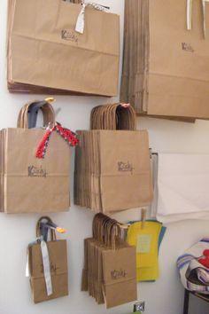 Kraft bags at Kitsch Kitschva.com Cardboard Storage, Diy Cardboard, Food Packaging Design, Packaging Design Inspiration, Mini Album Scrapbook, Packing Station, Food Business Ideas, Kraft Bag, Fabric Stamping