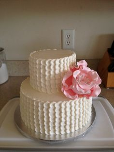 Peony cake for 50th birthday