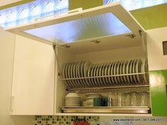 60 Minimalist, Modern and Classic Dish Rack Models Small Kitchen Set, Kitchen Sets, New Kitchen, Kitchen Decor, Kitchen Design, Kitchen Organisation, Diy Kitchen Storage, Modern Kitchen Cabinets, Kitchen Models