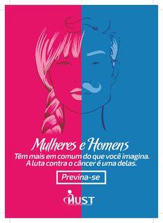 Campanha Outubro Rosa e Novembro Azul - HUST on Behance