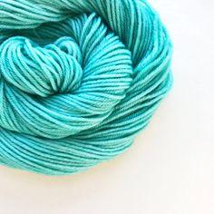 atlantic / hand dyed yarn / fingering sock dk bulky yarn / super wash merino wool yarn / single or ply / choose your base / light green yarn by pancakeandlulu on Etsy