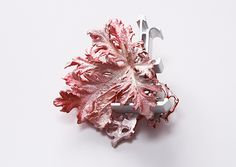 Mari Ishikawa Brooch: Landscape-Red, 2014 Silver 925, Aluminum, Acrylic lacquer 60x70x25mm  via klimt02.net