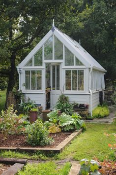 Garden Shed .Garden Shed Backyard Greenhouse, Greenhouse Plans, Small Greenhouse, Garden Buildings, Garden Structures, Garden Architecture, The Secret Garden, She Sheds, Garden Cottage