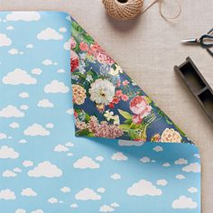 Double sided gift wrap - Vintage garden / Clouds 3 pack