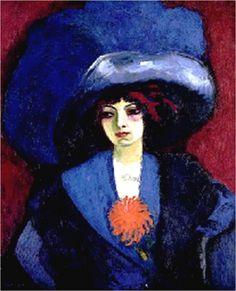 KEES van DONGEN -  Le chapeau bleu (c. 1910-1912) Huile sur toile (1001 x 81)
