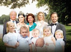Royal Family of Sweden, King Carl XVI Gustaf, Queen Silvia, Princess Victoria, Prince Carl Philip, Princess Madeleine