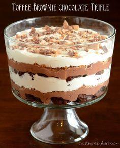 13 Desserts, Potluck Desserts, Layered Desserts, Trifle Desserts, Delicious Desserts, Plated Desserts, Fruit Trifle, Strawberry Trifle, Chocolate Trifle