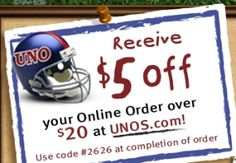 Unos $5 off any $20 Online Order