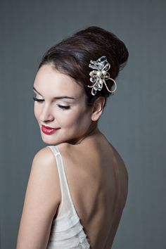 {Octavia} Swarovski pearl & crystal comb by Enchanted Atelier