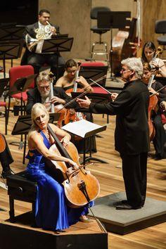 Amanda Fortsyth e Pinchas Zukerman com a Orquestra Sinfônica Brasileira na Cidade das Artes - Rio de Janeiro (2015) Foto: Cicero Rodrigues