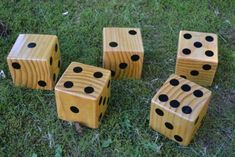 Oversized dice perfect for backyard barbecues or picnics at the Yard Yahtzee! Backyard Party Games, Backyard Bbq, Wedding Backyard, Backyard Ideas, Yard Yahtzee, Bbq Games, Lawn Games Wedding, Yard Dice, Wood Games