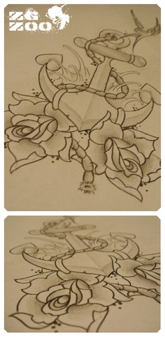 Needs a little tweaking, but I do love this. #AnchorTattoo #CoverUp
