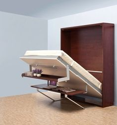 Space saving wooden murphy bed verticle hidden wall bed double murphy folding bed with bookcase and desk