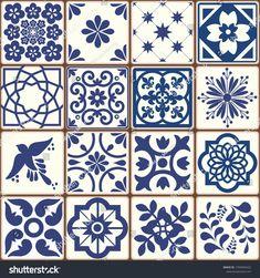 Ceramic Tile Art, Clay Tiles, Cement Tiles, Mosaic Tiles, Ceramic Pottery, Canvas Designs, Stencil Designs, Tile Patterns, Pattern Art