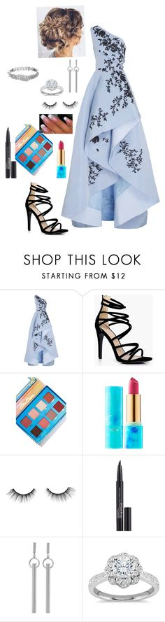 """""""Prom"""" by goddessofbacon ❤ liked on Polyvore featuring Monique Lhuillier, Boohoo, Lime Crime, tarte, Smashbox, Isabel Marant, Zac Posen and Kate Spade"""