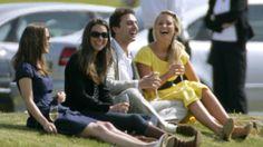 Kate & Pippa Middleton watching polo