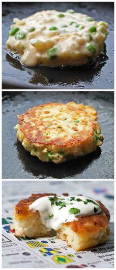 Cauliflower & Pea Fritters
