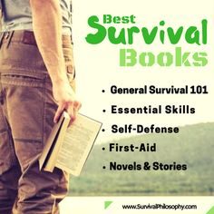 """""""The more you know, the less you have to carry. The less you know, the more you have to carry."""" A must read best survival books in different categories. Best Survival Books, Survival Life, Survival Food, Homestead Survival, Camping Survival, Survival Prepping, Emergency Preparedness, Doomsday Prepping, 1 Real"""
