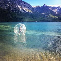 Pin for Later: 83 Travel Experiences to Have While You're Alive and Breathing Go Zorbing in New Zealand Source: Instagram user kitty_murdoch