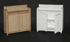 2 door wicker cabinet via @wickerparadise #wicker #wall #bathroom www.wickerparadise.com