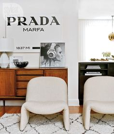 Dressing vibes for Living room Mid Century Modern Glamour Canada Style At Home Magazine Sarah Blakely Decoration Inspiration, Interior Design Inspiration, Room Inspiration, Style At Home, Prada Marfa, Sweet Home, Living Spaces, Living Room, House And Home Magazine