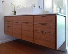 Mid Century Modern Bathrooms Design  Simple modern floating