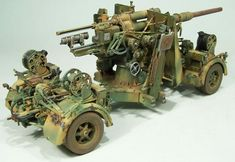 Dragon scale Flak Gun by Detlef Frohlich: Image Model Hobbies, Fun Hobbies, Hobbies And Crafts, Afrika Corps, Model Tanks, Military Modelling, Military Diorama, Panzer, Tamiya