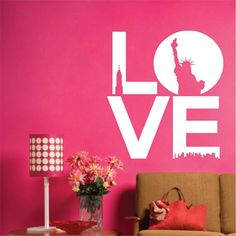 LOVE Wall Stickers #stylish_things #wall_stickers #decoration #home_decor_ideas #decorating_ideas #interior_decoration