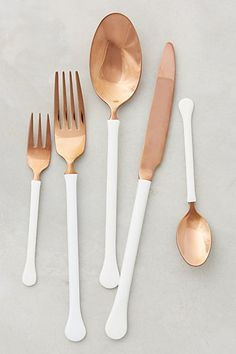Copper Top Flatware #anthropologie