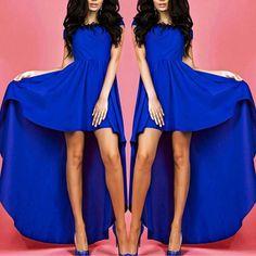 c2df0ec1125 Stylish Short Sleeve Swinging Swallow-tailed Casual Dress