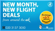 """""""✈   New Month, New Flight Deals from around the UK. Dial 020 3137 3050 for bookings  #CyberMonday #Christmas"""""""