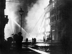 Inch Print - High quality prints (other products available) - Firemen using hoses on the inferno at Eastcheap, London EC, at the height of the Blitz. - Image supplied by Mary Evans Prints Online - Photograph printed in the USA Old London, London City, Blitz London, East London, The Longest Night, British Home, The Blitz, Battle Of Britain, World War Two