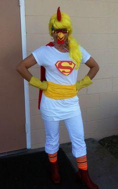 My last minute H'ween costume idea ~ Super Chicken!