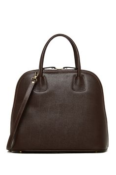 Persaman New York | Ophelia Leather Dome Satchel |  Sponsored by Nordstrom Rack. ==