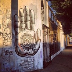 Graffiti buddha street art