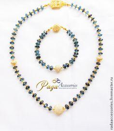 Комплект из Лондон Блю Топаза (London Blu Topaz) - морская волна,ювелирное украшение