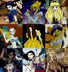 These renditions of the princesses are so creepy cool!
