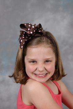 Polka Dot Hair Bow and headband