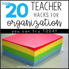 Top 20 teacher tips