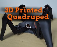 This Instructable will show you how to build a quadruped robot from scratch using 3D printed parts and off-the-shelf electronic components.Robot DesignA quadruped robot is a robot with four legs. There are any number of ways a four-legged robot can be designed. The robot we will be building in this Instructable has four legs arranged symmetrically around the body. Each leg is actuated by three servos: one for forward/backward movement, one for up/down movement, and one to bend the l...