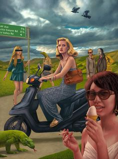 Paintings by Alex Gross // #art #painting