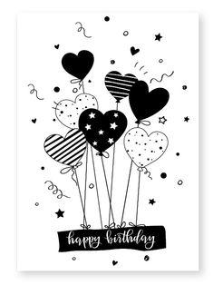 Happy Birthday Doodles, Happy Birthday Drawings, Birthday Card Drawing, Happy Birthday Cards, Creative Birthday Cards, Simple Birthday Cards, Handmade Birthday Cards, Diy Birthday, Cute Doodle Art