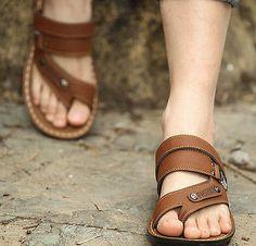 Roman Para hombre Zapatillas Casual Retro Sandalias Ojotas Playa Gladiador Zapatos Talla