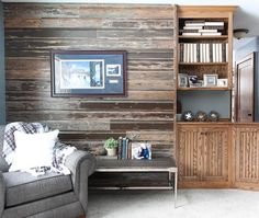 Over 50 years of MN craftsmanship and expertise! Reclaimed Wood Accent Wall, Wood Wall, Lake Resort, Cabins, Home Remodeling, Seal, Layers, Storage, Colors