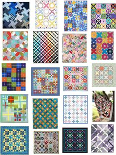 Free patterns for Plus, 'X', criss cross and lattice quilts.  Updated June 2015 at Quilt Inspiration