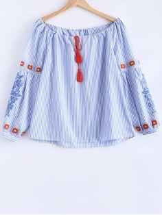 Bordado con cordón blusa ray